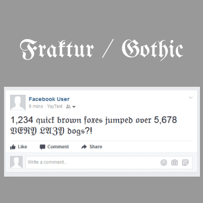 Gothic / Blackletter / Old English Unicode Text - 𝔉𝔯𝔞𝔨𝔱𝔲𝔯